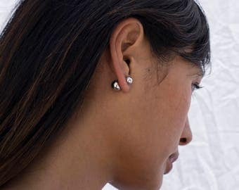 Silver Ball Studs, Double Ball Studs