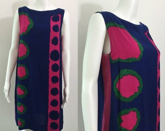 Bold Abstract1960's Shift Dress Gor-Ray