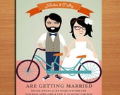 Reserved for Christina / Hipster Wedding Invitation PRINTABLE / DIY