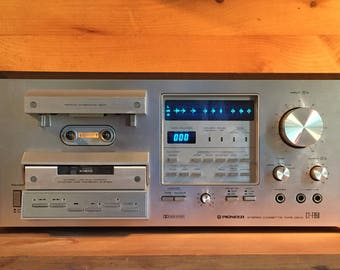 HUGE SALE !  Pioneer CT-F950 Stereo Cassette Tape Deck Receiver Stereo Amplifier Tuner Am Fm Radio Phono Turntable Amp 1970s Blue Led Rare