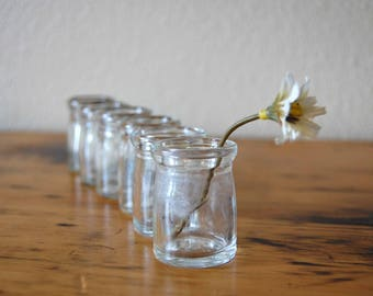Vintage Individual Creamers Set of 6 Vintage Miniature Restaurant Clear Glass Creamers Vintage Small Creamer from The Eclectic Interior