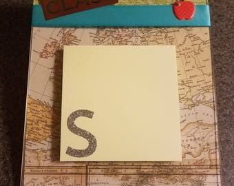 Post-It Note Display:  Middle School Teacher Gift