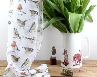 Birds Silk Scarf