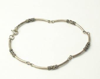 Vintage Boho Sterling Silver Wire Wrap Book Link Panel Bracelet Bohemian Fine Jewelry Gift For Her Best Deal
