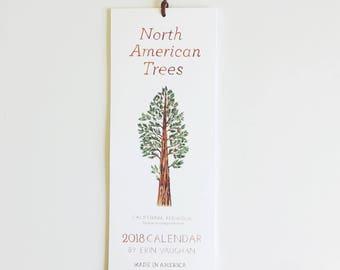 North American Trees 2018 Calendar