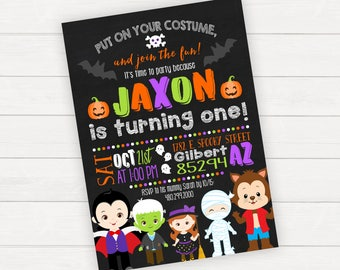 Halloween Birthday Invitation Halloween Party Halloween Invite 1st Birthday Kids Halloween Printable Invitation Kids Halloween Party