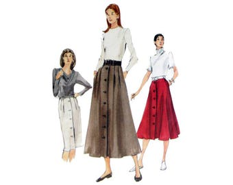 Maxi Skirt, Pattern, Vogue 7119, Size 8 10 12, UNCUT, Pencil Skirt, Pleated Skirt, Skirt with Side Pockets, Size 8, Size 10, Size 12
