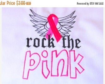 ON SALE Rock The Pink Breast Cancer Awareness Machine Embroidery 5x7