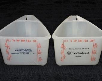 2 vintage advertising measuring cups