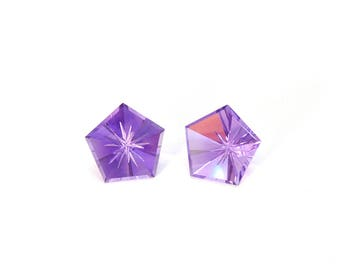 Amethyst Designer Gemstone Carving Faceted Fantasy Cut 15.0x15.1x8.5 mm 16.4 carats Free shipping