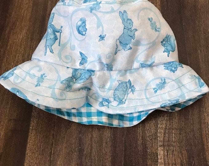Handmade Beatrix Potter Baby Bucket Hat (6-12 months)