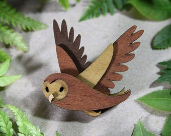 SALE Owl Brooch - Woodland Collection