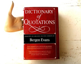 Vintage Quotation Dictionary--Dictionary of Quotations, Speech Tool, Writing Tool, Historical Quotations