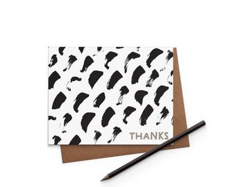 Paintstrokes- Thank You Card - Blank Card - Digitally Printed A2 Cards w/ envelope