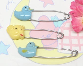 Vintage Baby Diaper Pins, Tommee Tippee and Blue Ducks