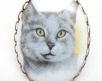Vintage Cat Pin Brooch
