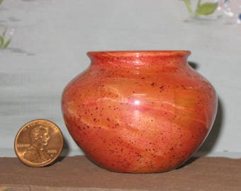 Stain on Cottonwood Pot - Turned Wooden Vessel