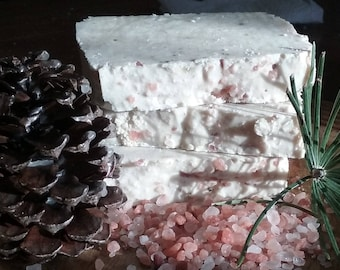 Winter Moon All-Natural Soap & Shampoo, Lavender Mint Vegan Palm-Free soap and shampoo with dried lavender,  salt soap