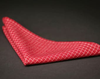 Red Wedding pocket square