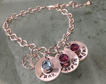 Mother's Charm Bracelet - Grandmother's Charm Bracelet - Custom Bracelet - Mothers Bracelet - Grandmothers Bracelet - Sentimental Gift