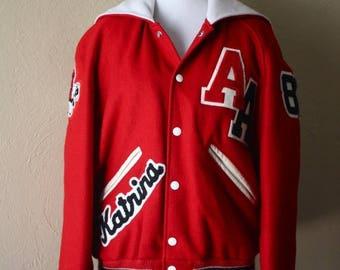 Clearance Sale Vintage High School Letterman Jacket