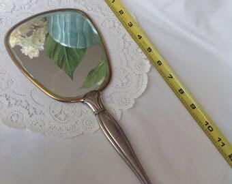 Vintage Hand Mirror, Vanity Mirror, Ladies Art Nouveau Hand Mirror, Art Deco Hand Mirror