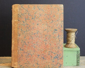Antique Journal Account Book // Ruled Pages //  Includes an 1885 Will and Testament