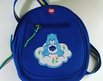 Vintage Carebear Grumpy Bear Mini Backpack
