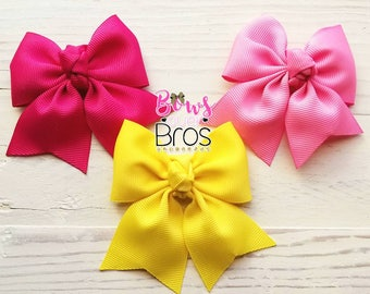 Summer Hair bows, Hair bows, Hair clips, bright colors, Headband set, baby headbands, skinny headband set, baby headband set