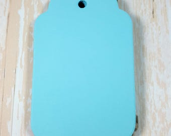 Teal BlueScalloped large tags, Die Cut, Embellishment, Gift Tag, Party Favor Tag,Wish tree