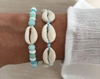 beach jewelry, beachcomber bohemian bracelets