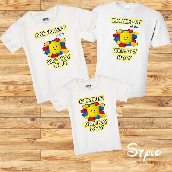 Set of 3 Legoland shirts- Legoland family shirts- personalized Legoland shirts- birthdayboy shirt- mommy and Daddy shirt-Set of 3 GqkdlWSp