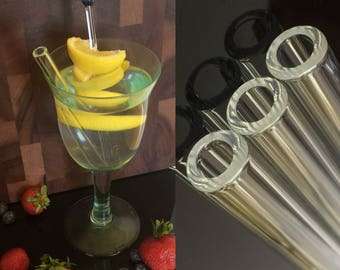 Glass Straws 12 mm Made to Order by OceanBeachGlass