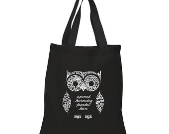 Small Tote Bag - Created out of the Different Species of Owl