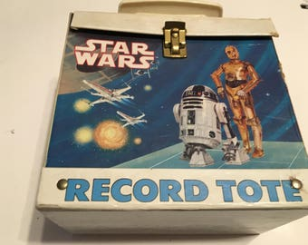 star wars 45 rpm record case holds 60 to 70 records