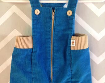 vintage sears Winnie the Pooh corduroy overalls for baby size 3-6-9 months