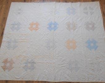 Beautiful Antique Puzzle Quilt - Handstitched