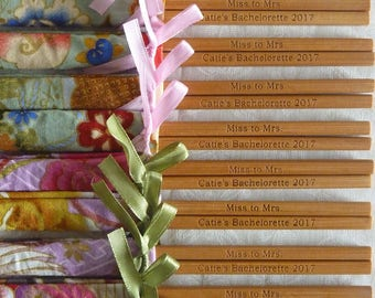 Personalised Chopsticks Wedding Favors with Engraving Services/Bachelorette Party Gifts/ Door Gifts (min 20 pairs)