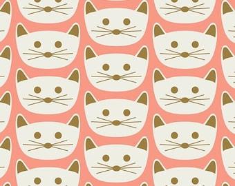Blush by Dana Willard for Art Gallery Fabrics - Cat Nap - Pink - BSH-78406 - Quilt Fabric - Fat Quarter - Cotton Quilt Fabric