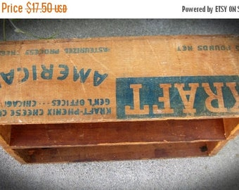 30% Off Clearance Sale Antique Kraft Cheese Wood Boxes-Display Shelf/Storage Box-Rustic Prim
