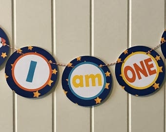 OUTER SPACE Highchair Banner 1st Birthday Party - Party Packs Available