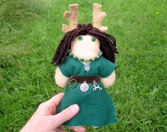 Elen of the Ways Poppet - Shamanic British Goddess Doll, Voodoo Doll, Juju Doll, Spirit Doll, Altar Doll