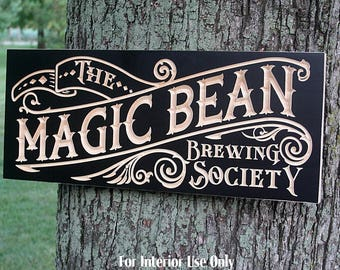Custom Bar Sign, Custom Beer Sign, Beer Sign, Guy Gift, Rustic Man Cave Sign, Carved Wood Sign, Irish Pub Sign, Benchmark Signs, Maple CB2