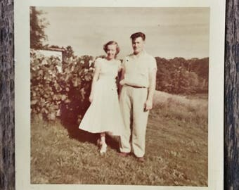 Original Vintage Color Photograph Anna & Grey 1954