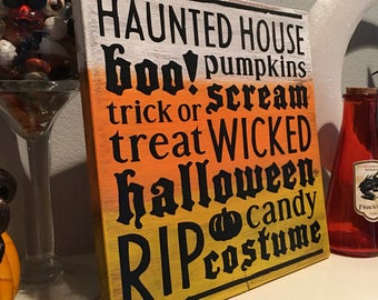 Halloween wood signs - Halloween decor - Halloween signs - wood signs - halloween