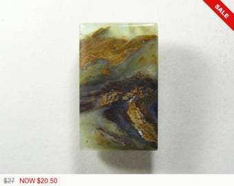 Peruvian Opal cabochon, 17.5x28x5 mm, designer cabochon, gemstone cabochons, flat back cabochons, natural stone cabochons (po51273)