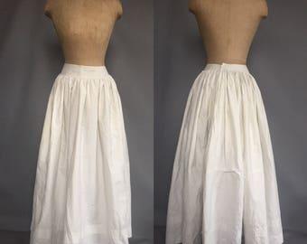 Victorian cotton petticoat