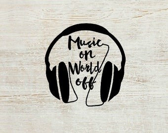 Music Vinyl Decal | Headphones Decal | Music Decal | Car Decal | Laptop Decal | Notebook Decal | Mirror Decal | Decal | Planner Accessory