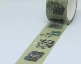 Vintage Style Camera Patterned Washi Tape