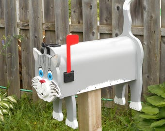 Cat mailboxes - Grey Cat mailbox